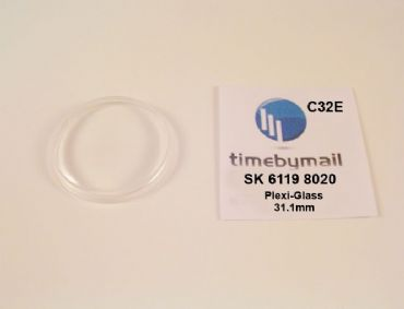 Watch Crystal For SEIKO 5 6119 8020 Automatic Plexi-Glass Spare Part C32E
